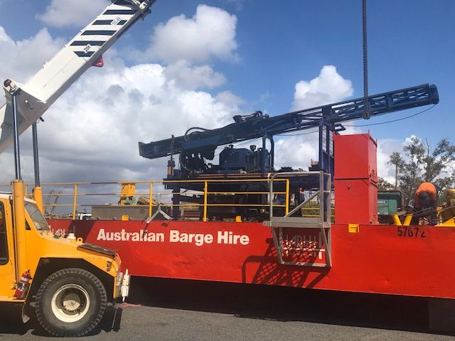 Splicing of piles and barge assembly for our friends @ Australian Barge Hire